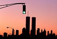 NYC skyline silhouette