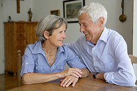 Germany, Bavaria, Senior couple looking at each other, smiling (thumbnail)