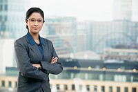 Portrait of businesswoman with arms folded