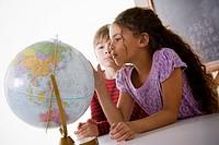 Schoolchildren 6_7 with globe