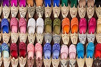 Shoes for sale in the Old Souk, Dubai