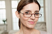 Germany, Berlin, Mature woman with spectacles, portrait