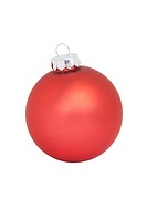 Red Christmas Ornament, isolated w/clipping path