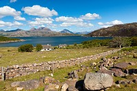 The Loch Torridon near Kenmore, Wester Ross in the North West Highlands of Scotland, United Kingdom, Europe