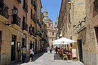 Libreros street, university at back, Salamanca, Castile-Leon, Spain, Europe, PublicGround