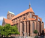 St. Nikolai Kirche church, Wismar, Mecklenburg-Western Pomerania, Germany, Europe