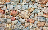 Natural rough stone wall _ texture