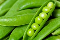 Detail of snap peas