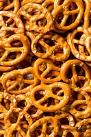 Detail of small salt pretzels