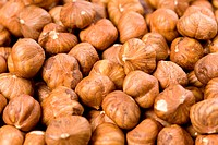 Detail of hazelnuts