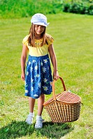 Girl with picnic basket