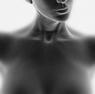 Neck and chest of a nude woman, illustration