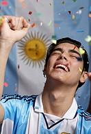 Cheering Argentinian Soccer Fan
