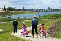 D-Dortmund, Ruhr area, Westphalia, North Rhine-Westphalia, NRW, D-Dortmund-Hoerde, Phoenix-See, Phoenix lake, artificial lake, former steelwork terrai...