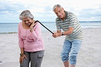 Old couple having fun