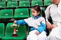 Little Girl with Trophy