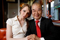 Businessman With Waitress in a Cafe