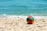 ball on a beach