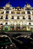Hotel de Paris at Place du Casino in Monte Carlo, Principality of Monaco, Europe
