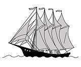 sailfish silhouette on white background