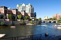 Reno architecture and river.