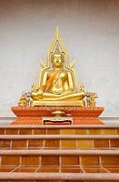 Buddha sculpture at Chiangmai Temple Thailand