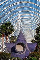 Valencia, Spain: the Umbracle, at Ciudad de las Artes y Las Ciencias