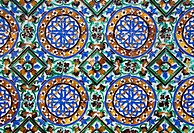 Azulejos tiling detail _ islamic art