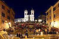 Italy, Rome, Scalinata della Trinita dei Monti, the Spanish Steps at Piazza di Spagna