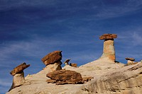 Low angle view of a hoodoos, Stud Horse Point, Utah_Arizona Border, USA
