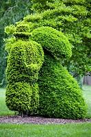 Topiary in a garden, Deaf School Park, Columbus, Ohio, USA