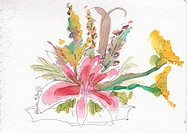 Special Flowers, watercolor