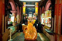 Worshipper at the Jade Emperor Pagoda in Ho Chi Minh City, Vietnam