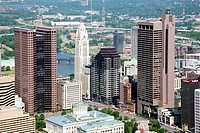 Aerial view of downtown Columbus, Ohio, USA