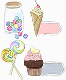 Various dessert icons