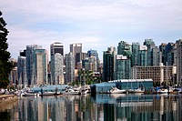Buildings at the waterfront, Coal Harbor, Vancouver, British Columbia, Canada