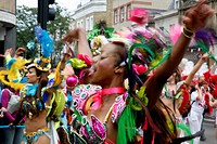 Celebration at Notting Hill Carnival, Notting Hill, London, England