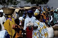 Mali, Djenne, Weekly Market, Market Scene