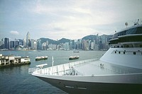 Cruise Ship in Hong Kong Harbor