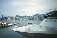 Cruise Ship in Hong Kong Harbor
