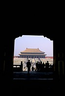 China, Beijing, Forbidden City, View Through Gate
