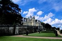 France, Loire Region, Near Chinon, Usse Chateaux, View of Castle