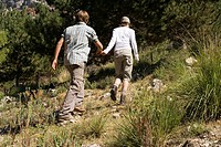 Couple Walking on Trail