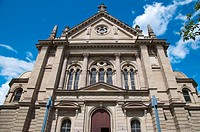Christuskirche the Christ Church 1904 along Kaiserstrasse boulevard street Mainz city state of Rhineland-Palatinate Germany Europe