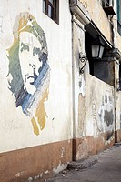 Che Guevara mural in Havana, Cuba