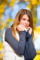 Autumn park _ fashion model woman