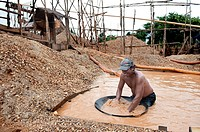 Diamond mine in cempaka, south kalimantan,borneo,indonesia,south-east asia