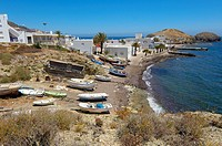 Cabo de Gata, Isleta del Moro, fishing village, Cabo de Gata-Nijar Natural Park, Almeria, Spain, Europe