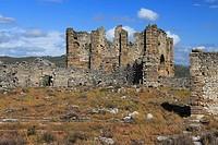 The Basilica in Ancient Aspendos, Antalya, Turkey