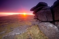Great Staple Tor sunset  Dartmoor, England